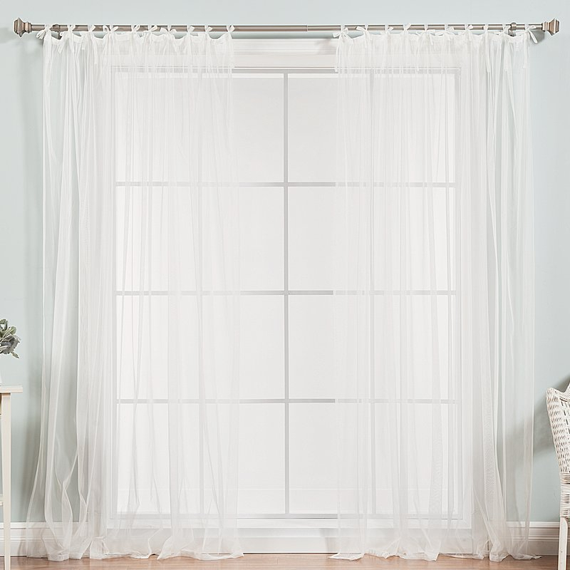 White Tab Top Curtains | Fortune Interior In Jacob Tab Top Single Curtain Panels (View 23 of 23)