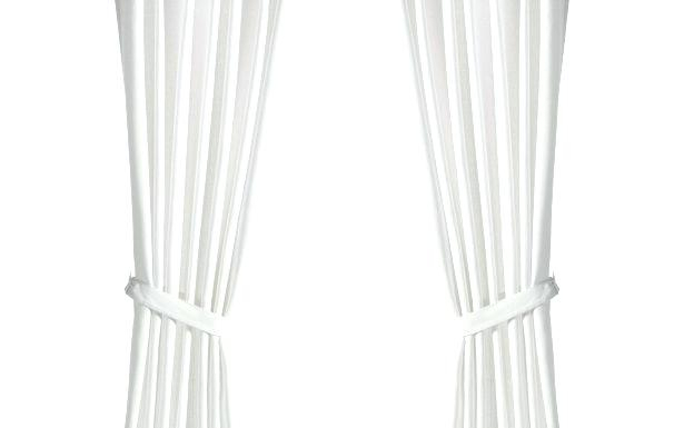 White Tab Top Curtains Voile Single Curtain Panel Linen What Intended For Linen Button Window Curtains Single Panel (#38 of 40)