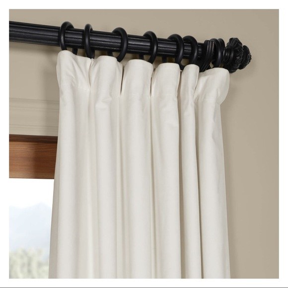 White Velvet Blackout Curtains Drapes – 2 Panels Nwt With Luxury Collection Faux Leather Blackout Single Curtain Panels (View 22 of 42)