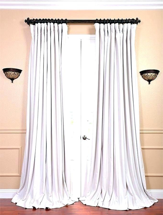 White Velvet Curtains Pair Of Bedroom Living Decorating With Signature Blackout Velvet Curtains (#50 of 50)