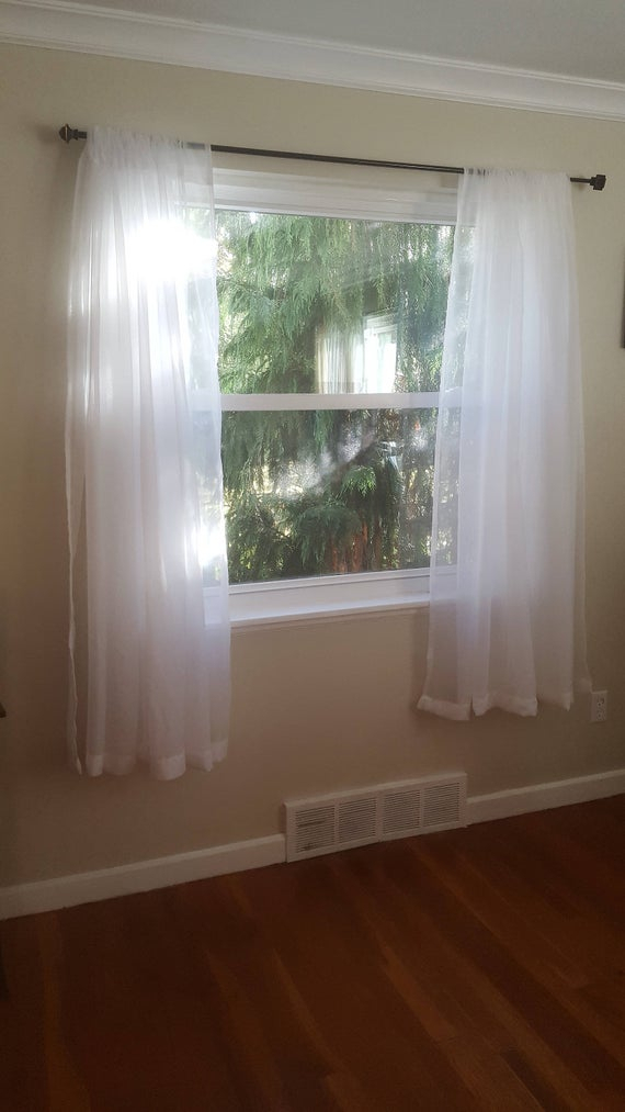 Popular Photo of Extra Wide White Voile Sheer Curtain Panels