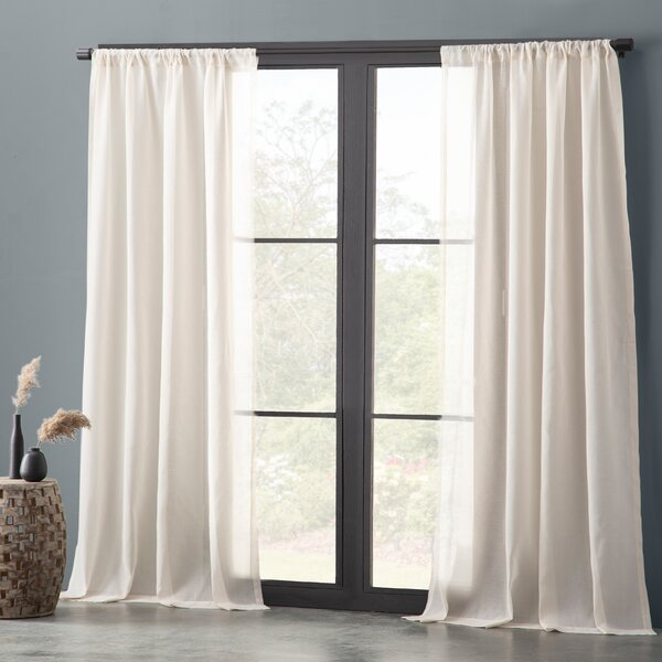 White Waffle Weave Curtains | Wayfair With Regard To Bark Weave Solid Cotton Curtains (View 50 of 50)