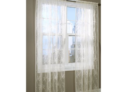 White Window Floral Sheer Curtains Short Panel Blue, Tacoma With Tacoma Double Blackout Grommet Curtain Panels (View 44 of 48)