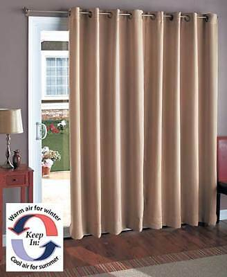 Wide Blackout Patio Two Curtain Sliding Door Window Panel Polyester Four  Colors | Ebay Throughout Grommet Blackout Patio Door Window Curtain Panels (View 49 of 50)