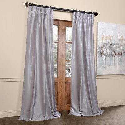 Willa Arlo Interiors Forbell Solid Blackout Vintage Textured Throughout Silver Vintage Faux Textured Silk Curtain Panels (View 35 of 50)