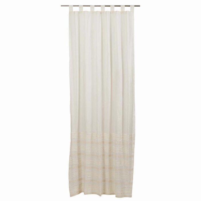 Willandra Solid Sheer Tab Top Single Curtain Panel For Tab Top Sheer Single Curtain Panels (View 24 of 50)