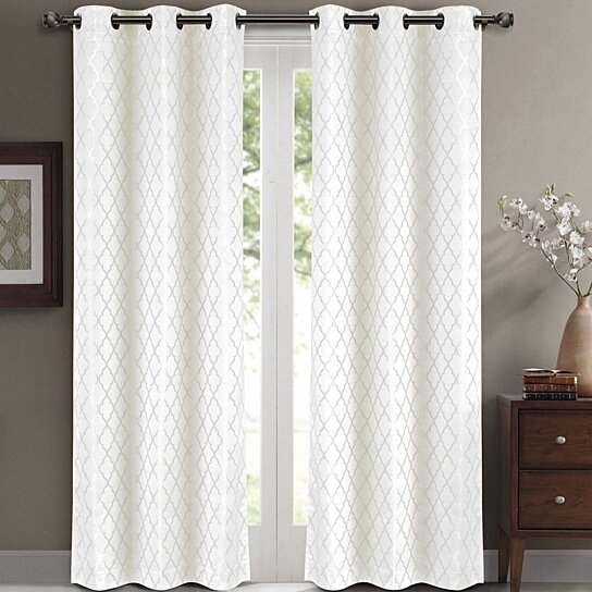Willow Jacquard Blackout Thermal Insulated Window Curtain Panels Pair (Set  Of 2) With Insulated Thermal Blackout Curtain Panel Pairs (#49 of 50)