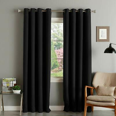 Window 100% Blackout Curtains Thermal Insulated Room Darkening Drapes 2  Panels 6936399044896 | Ebay In All Seasons Blackout Window Curtains (View 48 of 48)