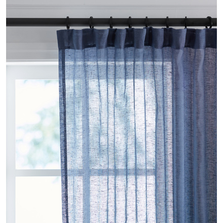 Window Curtains & Drapes | Rejuvenation In Linen Button Window Curtains Single Panel (#39 of 40)