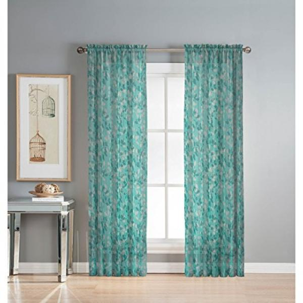 Window Elements – Buy Window Elements At Best Price In For Wavy Leaves Embroidered Sheer Extra Wide Grommet Curtain Panels (#45 of 50)
