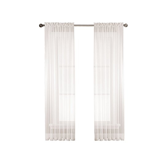 Window Elements Diamond Sheer Voile Extra Wide 112 X 84 In For Extra Wide White Voile Sheer Curtain Panels (View 48 of 50)