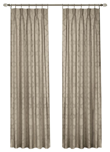 """Windsor Pinch Pleat Window Curtain Panel, 34""""x63"""" Inside Signature Pinch Pleated Blackout Solid Velvet Curtain Panels (View 12 of 50)"""