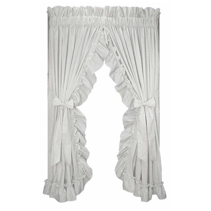 Winland Ruffled Priscilla Solid Semi Sheer Rod Pocket Single Curtain Panel Within Ruffle Diamond Curtain Panel Pairs (View 9 of 50)