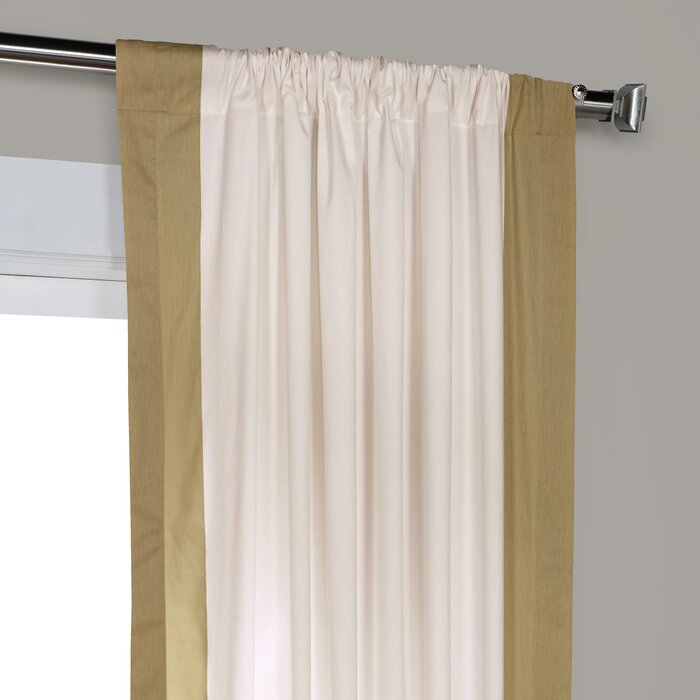 Winsor Semi Sheer Rod Pocket Single Curtain Panel In Cyrus Thermal Blackout Back Tab Curtain Panels (#37 of 39)