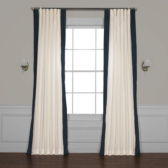 Winsor Semi Sheer Rod Pocket Single Curtain Panel With Cyrus Thermal Blackout Back Tab Curtain Panels (#38 of 39)