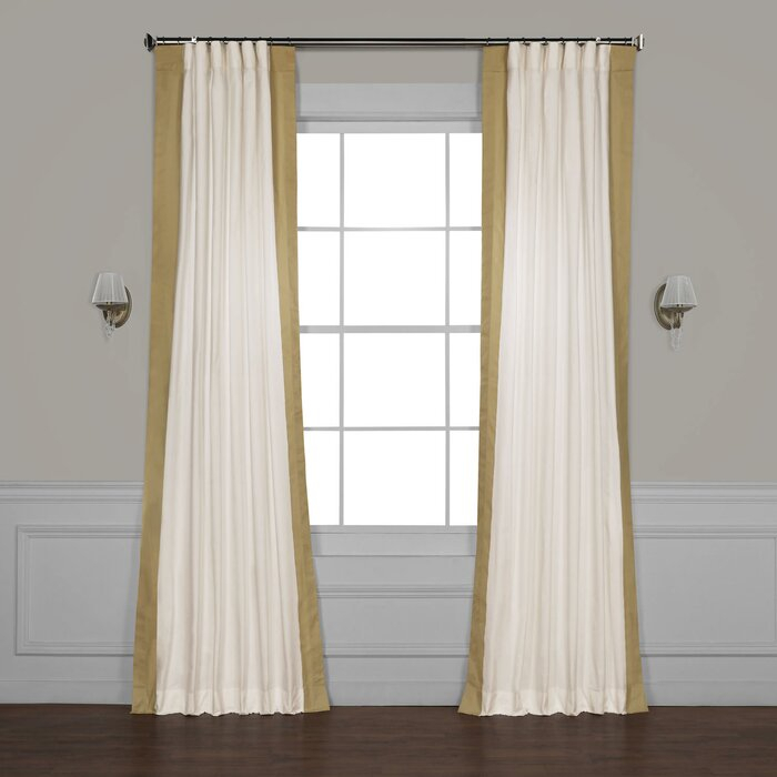 Winsor Semi Sheer Rod Pocket Single Curtain Panel With Regard To Cyrus Thermal Blackout Back Tab Curtain Panels (#39 of 39)