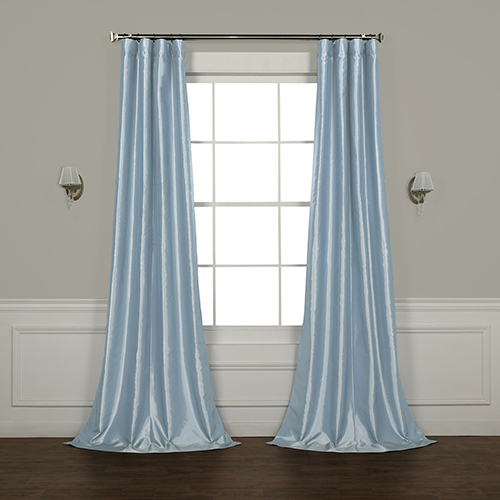 Winter Ice 108 X 50 Inch Faux Silk Taffeta Curtain Single Panel In Solid Faux Silk Taffeta Graphite Single Curtain Panels (View 15 of 50)