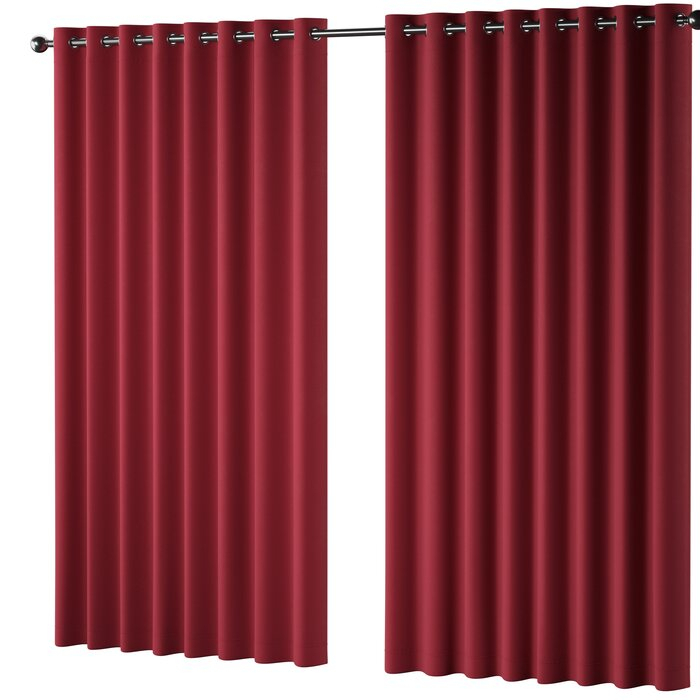 Wintergreen Sateen Solid Blackout Thermal Grommet Single Curtain Panel Pertaining To Tacoma Double Blackout Grommet Curtain Panels (View 47 of 48)