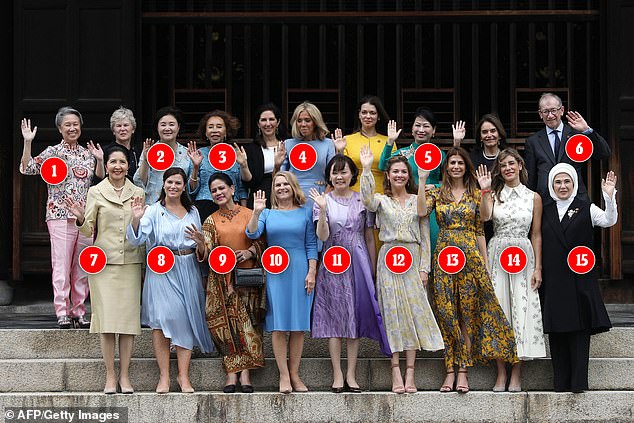 Wives Of World Leaders Are Joinedphilip May As They Pose Throughout Luxury Collection Summit Sheer Curtain Panel Pairs (View 20 of 50)