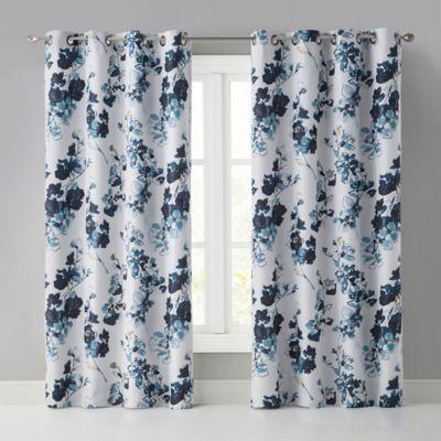 """Wonder Home Valerie 63"""" Grommet Room Darkening Window In Floral Pattern Room Darkening Window Curtain Panel Pairs (View 43 of 44)"""