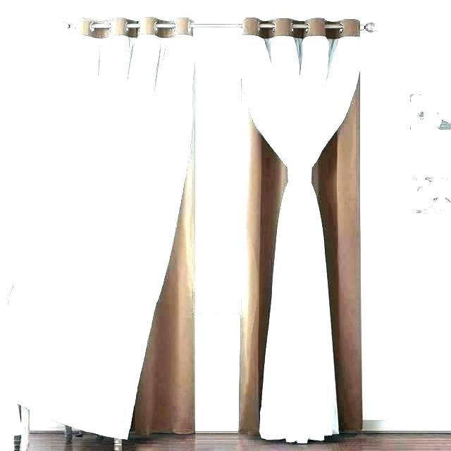 X Curtain Panels Curtains Aurora Home Sheer Grommet Top Inch Within Insulated Thermal Blackout Curtain Panel Pairs (#50 of 50)