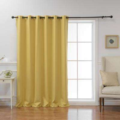 Yellow And Grey Blackout Curtains | Flisol Home In The Curated Nomad Duane Jacquard Grommet Top Curtain Panel Pairs (#48 of 50)
