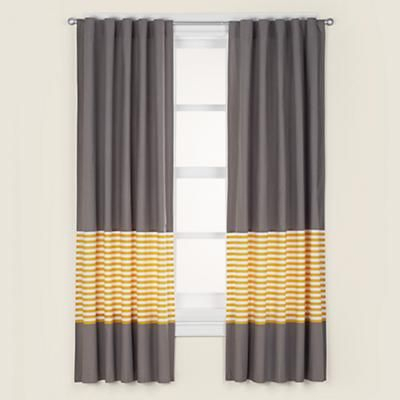 Yellow And Grey Blackout Curtains | Flisol Home Regarding The Curated Nomad Duane Jacquard Grommet Top Curtain Panel Pairs (#49 of 50)