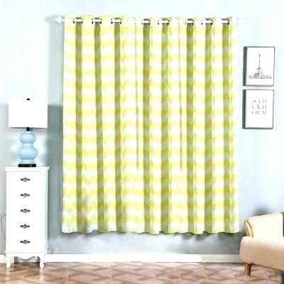 Yellow And White Curtains Black Gray 2 Pack Chevron Design With Regard To Chevron Blackout Grommet Curtain Panels (View 49 of 50)