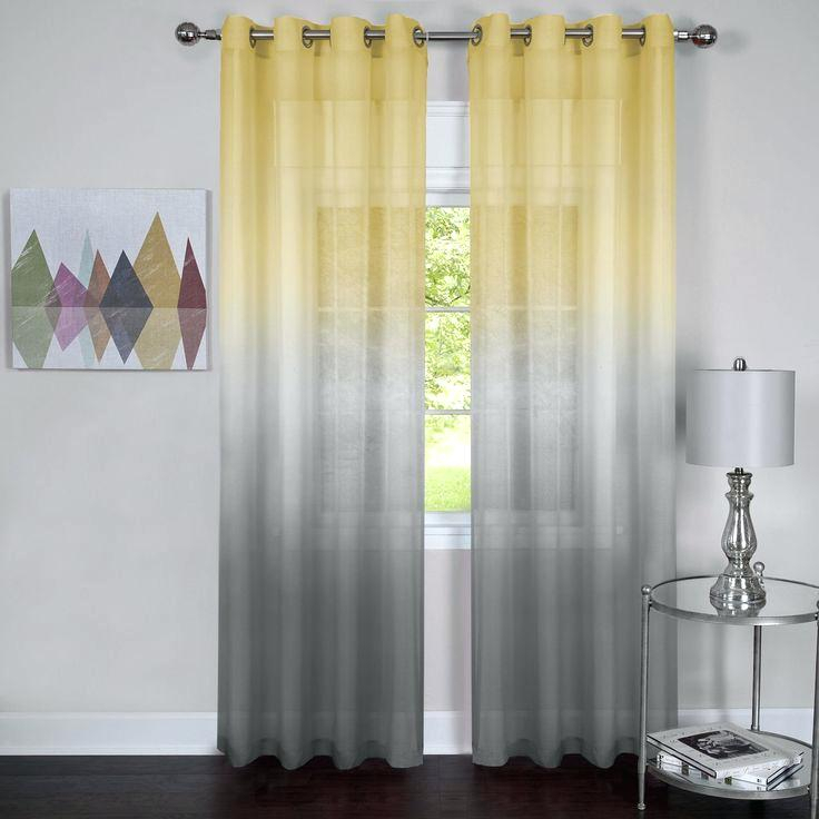Yellow Chevron Curtains Incredible Curtains Yellow And Gray Intended For Chevron Blackout Grommet Curtain Panels (View 50 of 50)