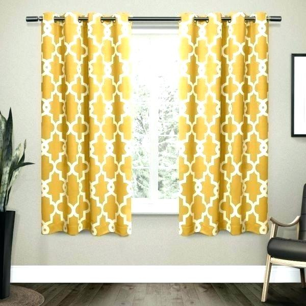 Yellow Drapes Throughout Sateen Woven Blackout Curtain Panel Pairs With Pinch Pleat Top (View 28 of 40)