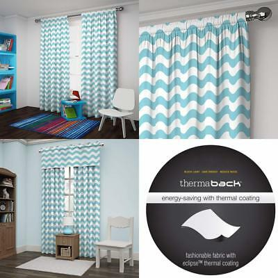 Yellow Eclipse My Scene Thermaback Blackout Wavy Chevron Regarding Thermaback Blackout Window Curtains (#36 of 36)