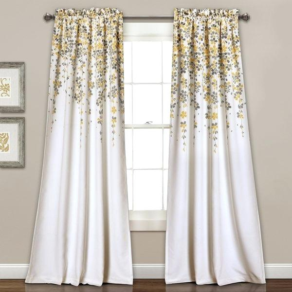 Yellow Floral Curtains – Thefishing (View 44 of 44)