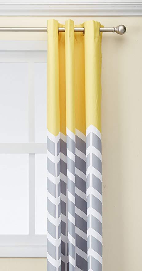 Yellow Room Darkening Curtains – Cheapautoinsurancenewyork With Regard To Dolores Room Darkening Floral Curtain Panel Pairs (#34 of 35)