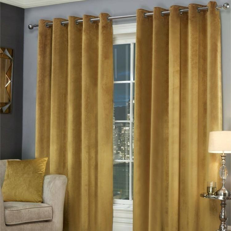 Yellow Velvet Curtains – Fecolbi For Heritage Plush Velvet Curtains (View 50 of 50)