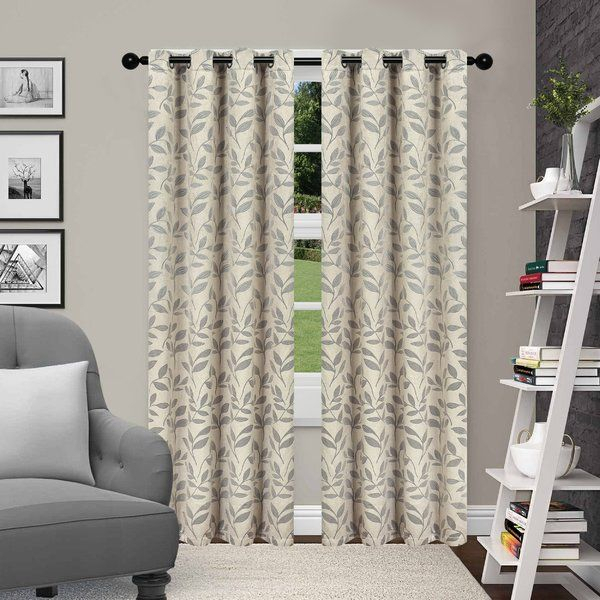 You'll Love The Brouillette Natural/floral Blackout Thermal In Moroccan Style Thermal Insulated Blackout Curtain Panel Pairs (View 17 of 50)