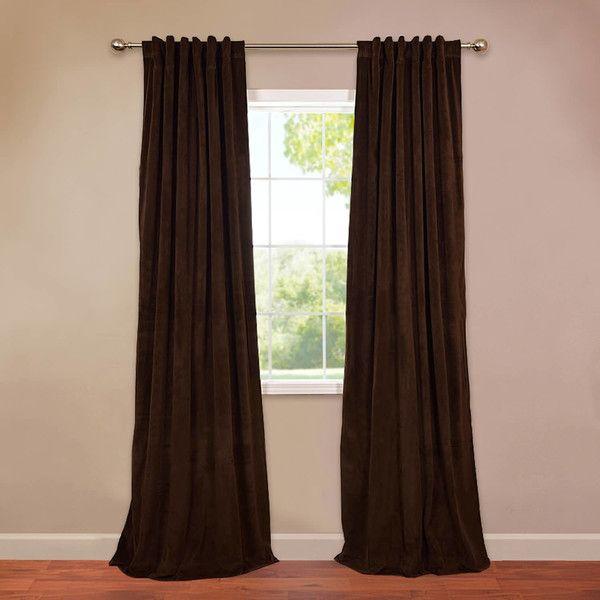 You'll Love The Thalia Velvet Blackout Single Curtain Panel Within Warm Black Velvet Single Blackout Curtain Panels (#48 of 48)
