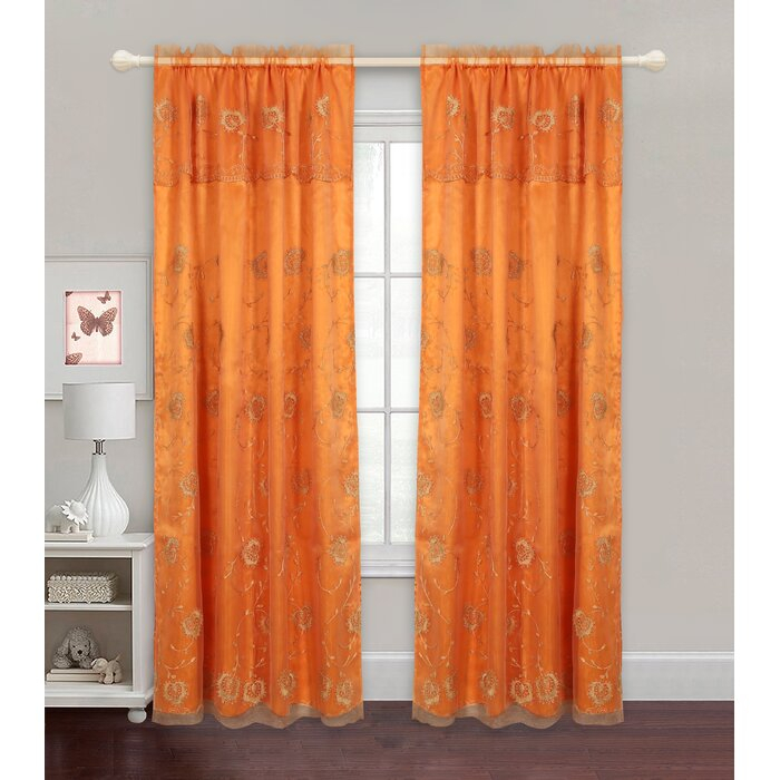 Zellers Embroidered Floral Semi Sheer Curtain Panels Within Ombre Embroidery Curtain Panels (View 9 of 50)
