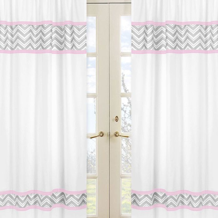 Zig Zag Curtain Panels | Products | Drapes Curtains, White Regarding Chester Polyoni Pintuck Curtain Panels (#26 of 26)