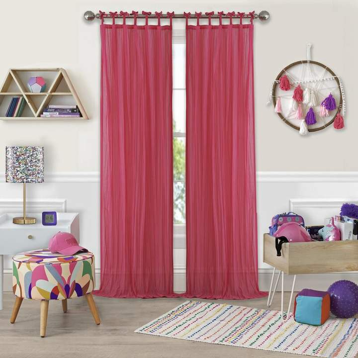 Inspiration about Zoomie Kids Joss & Main Essentials Solid Sheer Tab Top For Tab Top Sheer Single Curtain Panels (#18 of 50)