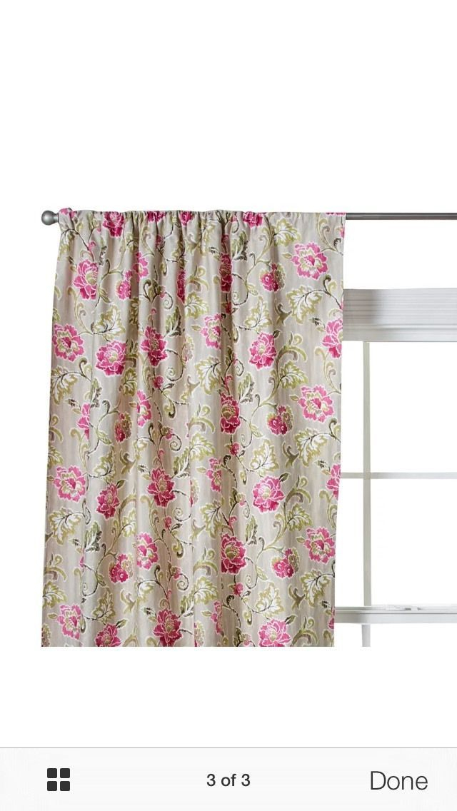 1 Trend Lab Waverly Jazzberry Window Panel And 50 Similar Items Within Waverly Felicite Curtain Tiers (#2 of 45)
