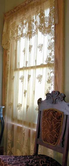129 Best Lace & Voile Curtains Images | Curtains, Lace Regarding Marine Life Motif Knitted Lace Window Curtain Pieces (#1 of 48)