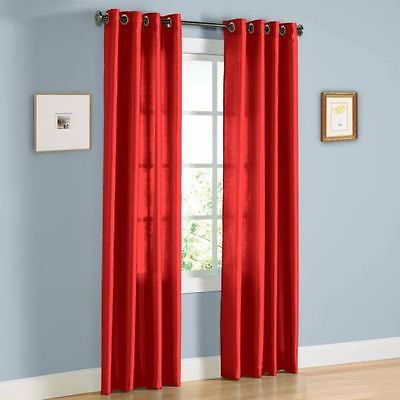 2 Faux Silk Window Panel Semi Sheer Curtain Drape Grommet Throughout Ivory Micro Striped Semi Sheer Window Curtain Pieces (View 16 of 50)