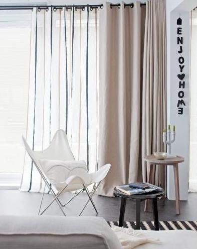 2 Layers Of Curtains With Eyelet Tops | Home, Home Decor Pertaining To Glasgow Curtain Tier Sets (View 1 of 30)
