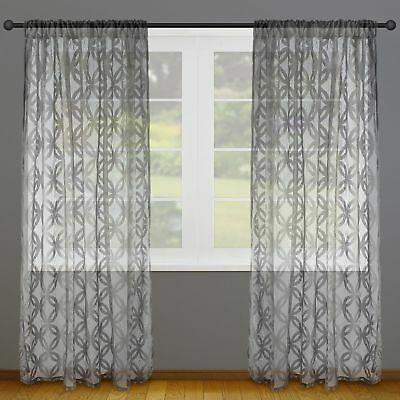2 Panel Lace Design Window Curtain Shade Window Sheer With Marine Life Motif Knitted Lace Window Curtain Pieces (#7 of 48)