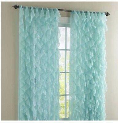 2 Panel Window Sheer Vertical Ruffled Waterfall Curtains With Chic Sheer Voile Vertical Ruffled Window Curtain Tiers (View 2 of 50)