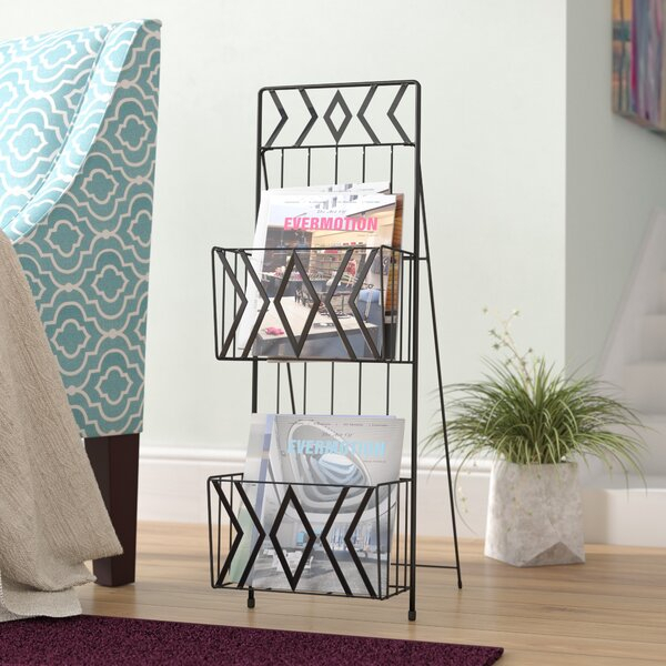 2 Tier Magazine Rack | Wayfair With Regard To Cumberland Tier Pairs In Dove Gray (View 1 of 30)
