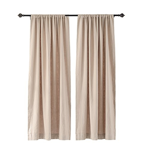 20 Greatest Pocket Curtain Rods – Top Decor Tips Regarding Rod Pocket Cotton Linen Blend Solid Color Flax Kitchen Curtains (View 1 of 30)