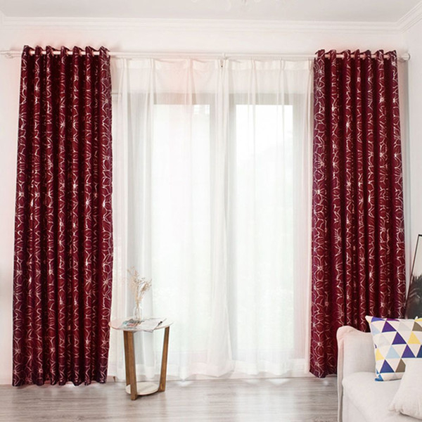 2019 Feiqiong Floral Window Curtain Flower Pattern Blackout Panels Balcony  Drape Valance Fashion Curtain For Bedroom Room Decor From Linita, $ (View 1 of 50)