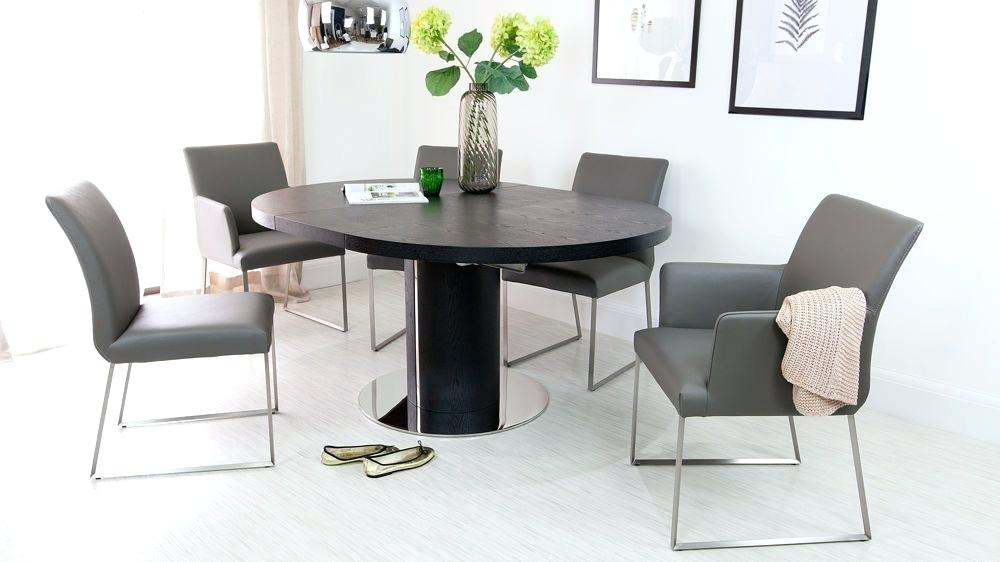2019 Gray Wash Banks Pedestal Extending Dining Tables Inside Round Dining Table With Pedestal – Doglar (#1 of 20)