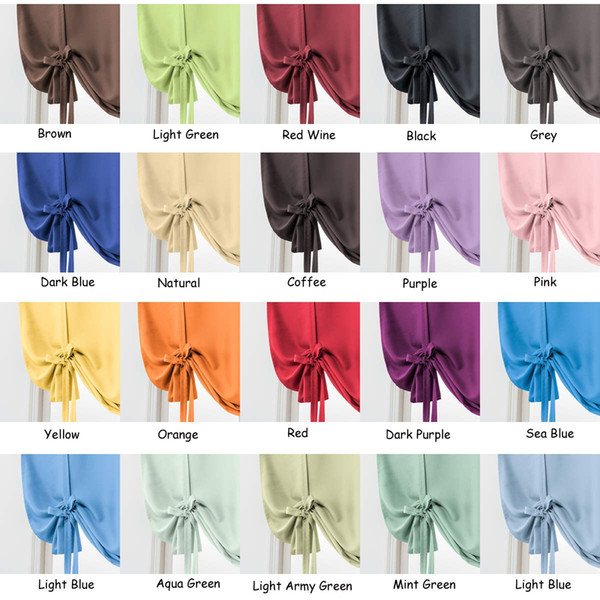2019 Jarl Home Rod Pocket Roman Blinds Blackout Curtains Tie Up Small  Window Treatment Valance Kitchen Curtain For Bedroom And Living Room From Throughout Floral Lace Rod Pocket Kitchen Curtain Valance And Tiers Sets (View 1 of 50)